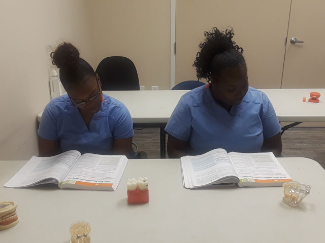 Dental Assistant Students During Training